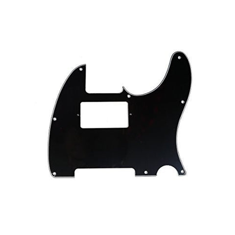 Musiclily 3 Ply Humbucking Electric Guitar Pickguard Pick Guard Scratch Plate for Fender USA/Mexico Standard Telecaster Tele Humbucker HH, Black
