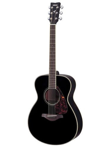 Yamaha FS720S Small Body Solid Top Acoustic Guitar - Mahogany, Black