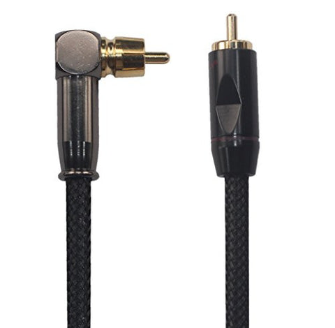 KK 2H-T-1.5 HIFI HI-END OFC Wire 75 Ohm Digital SPDIF Coaxial Audio/video RCA Cable,Right Angle Plug to Straight Plug 4.9ft / 1.5m (4.9ft / 1.5m)