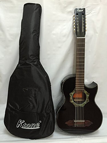 12-string Bajo Sexto Acoustic Electric Guitar, with Gig Bag