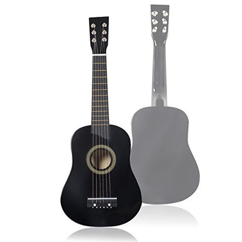 "25"" Beginners Kids Acoustic Guitar 6 String with Pick Children Kids Gift (Black)"