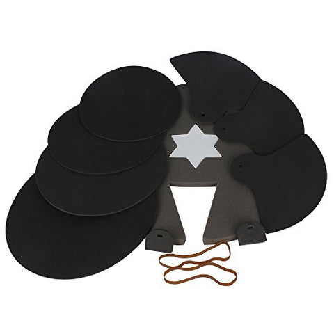 ammoon 8-Piece Drum Set Silencer Practice Pads Mute with Cymbal Mutes