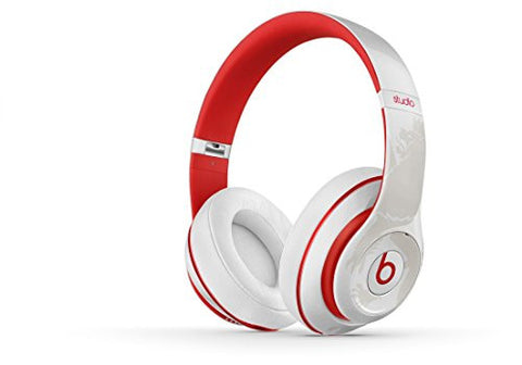 Beats Studio 2.0 Wired Over-Ear Headphones White Red