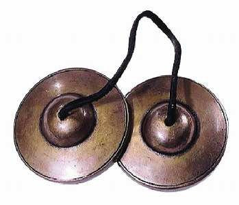 Ding Sha Tibetan Cymbals on Leather Strap