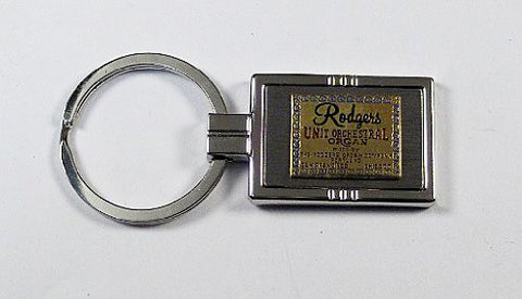 Rodgers Theatre Organ Keychain with Free Engraving