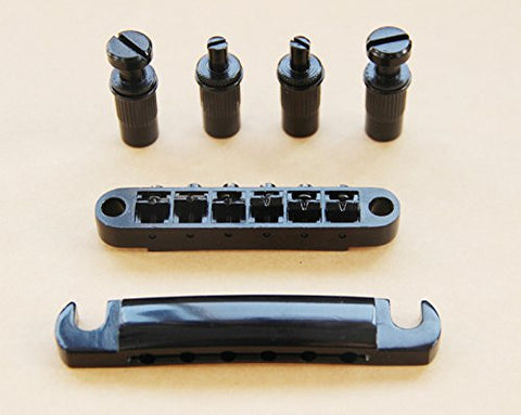 BetterJonny - 1 Set New Black Guitar Tune-O-matic Bridge Tailpiece Tail For Gibson Les Paul SG
