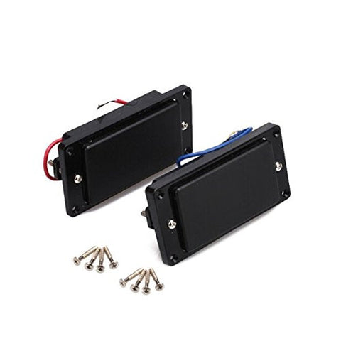 Foxnovo Professional Sealed Humbucker Pickups Set for Gibson Epiphone Les Paul Guitars (Black)
