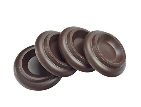 Upright Piano Caster Cups Solid Wood Material with Slip Resistant Pad Set of 4