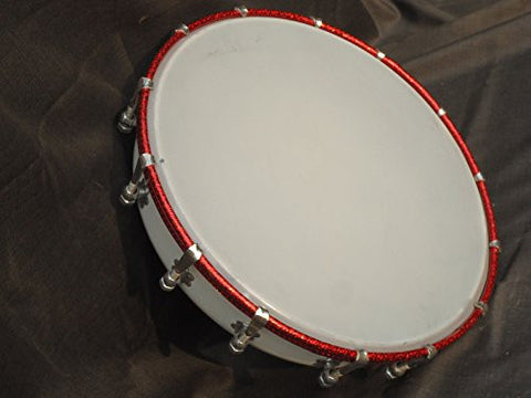 SG Musical TASHA Stainless Steel White Colored Plastc Skin Fitted Indian Drum