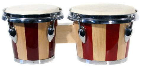 "RockJam 100301 7"" & 8"" Bongo Drum Set with Padded Bag, Red"
