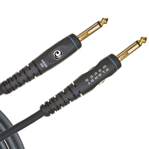 Planet Waves Custom Series Instrument Cable with Compression Springs, 10 feet
