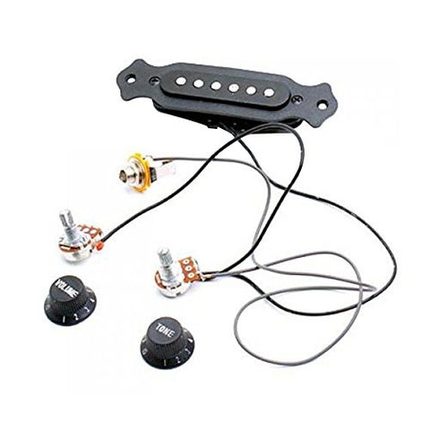 Tinksky Portable Acoustic Magnetic Guitar Pickup Guitar Sound Amplifier (Black)