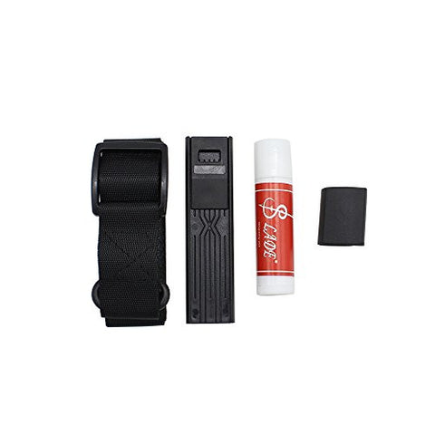LADE 4-in-1 Accessory Kit Neck Belt Cork Grease Thumb Rest Cushion Reed Case for Saxophone Sax Instrument