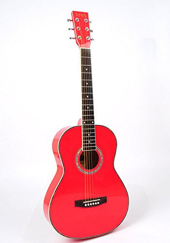 Lyul 3/4 Size Acoustic Premium Guitar Package (Red)