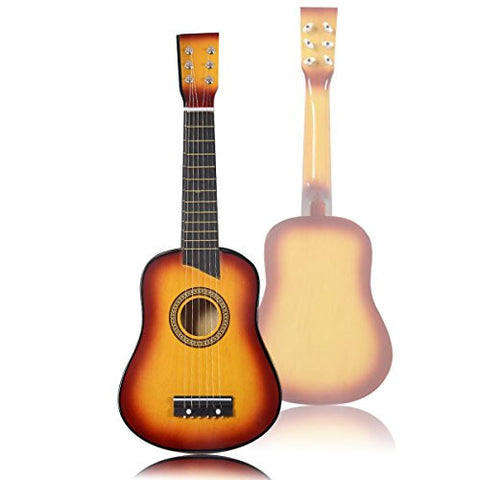 "25"" Beginners Kids Acoustic Guitar 6 String with Pick Children Kids Gift (Orange)"