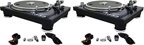 Pair Of Stanton STR8-150 HP DJ Torque Turntables + Accessories