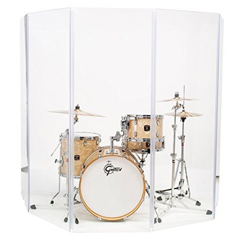 Drum Shield Drum Screen Drum Panels DS67 Seven 2ft X 6ft Panels with Living Hinges