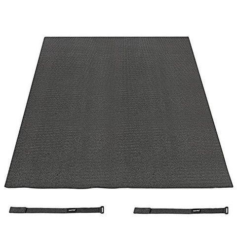Neewer Black 6 x 4 Feet/1.8 x 1.2M Non Slip Drum Mat with Nylon Carrying Bag for Bass Drum, Snare and Other Core Set Components