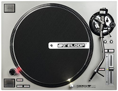 Reloop RP-7000 Quartz Driven DJ Turntable with Upper-Torque Direct Drive, Silver (RP-7000-SLV)