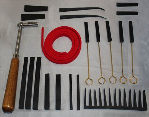 Deluxe Professional Piano Tuning Kit 21 Pieces - Tuning Lever, Mutes and Temperament Strip