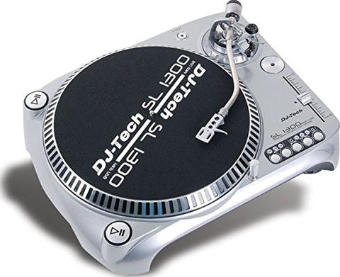 Dj Tech SL1300MK6USB-SIL Direct Drive DJ Turntable, Silver