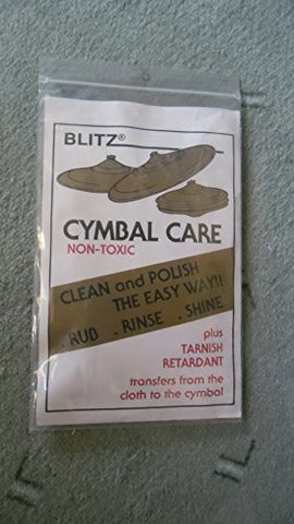 Blitz Cymbal Care Cloth Cleaning Shining Protection NEW