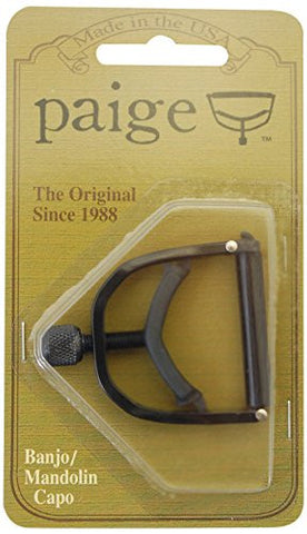 Paige Banjo/Mandolin Capo-fits up to the 4th Fret on a 5-string-black