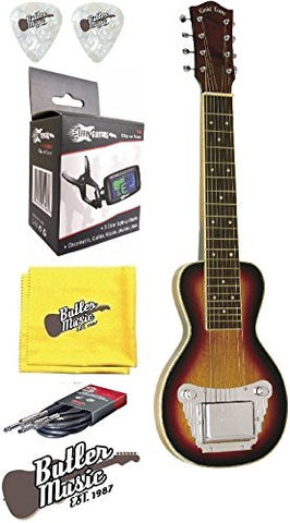 Gold Tone LS-8 Hawaiian Style Electric Lap Steel Guitar w/Effin Tuner and More