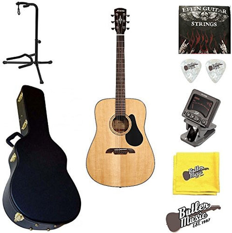 Alvarez AD30 Artist Series Dreadnought Size Acoustic Guitar w/ BK Hard case and More