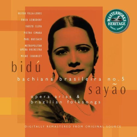 Bidu Sayao: Opera Arias and Brazilian Folksongs by Bidu Sayao Original recording remastered edition (1996) Audio CD by Unknown (0100-01-01)