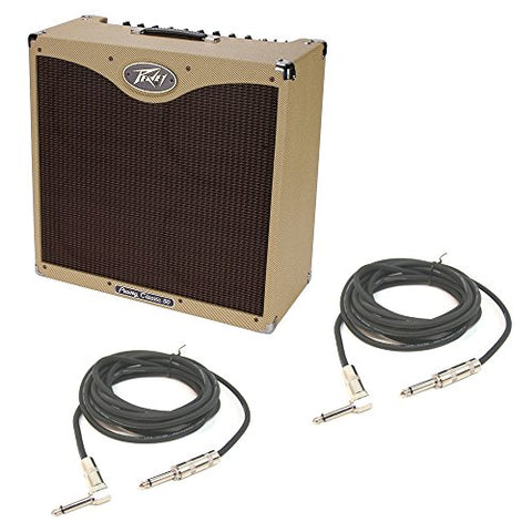 "Peavey Classic 50 410 Electric Guitar Combo 50W Amp & 10"" Amplifier & Cables"