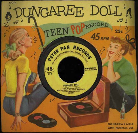 """Dungaree Doll"" 1955 Peter Pan Teen Pop Record #424"