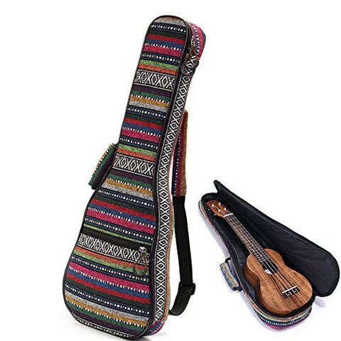1Pc ( 21'' ) Beautiful Soft Pad Cotton Folk Style Hand Portable Bag Case Cover For Ukulele Small Guitar Gig Bag