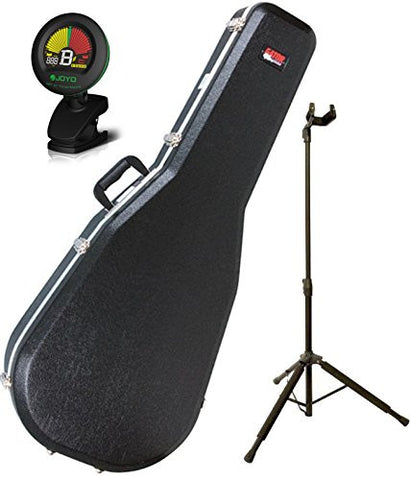 Gator GC-Dread Deluxe Acoustic Guitar Case w/ Tuner and Guitar Stand