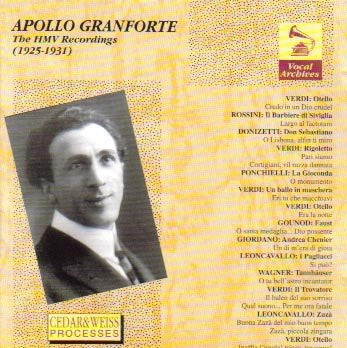 Apollo Granforte: The HMV Recordings (Opera Arias)
