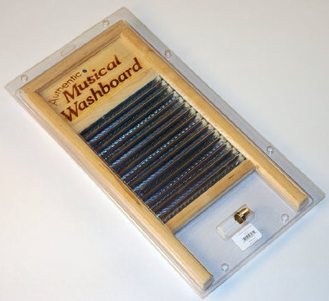 "NEW NEW 18"" CAJUN ZYDECO MUSICAL WASHBOARD SET W/ THIMBLES"