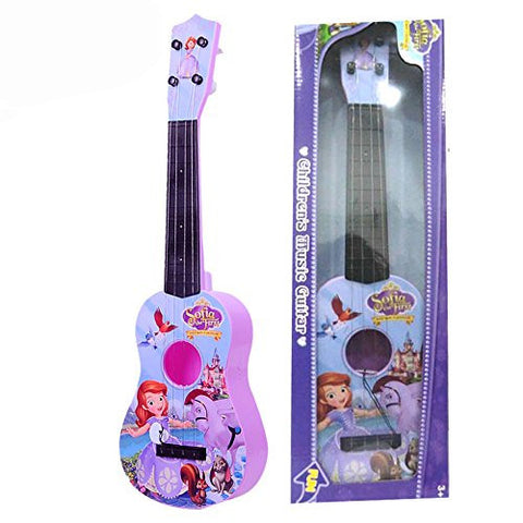 Princess Sophia Mini Guitar, Girls' Guitar, 4 strings for kids Musical Educational Toy, Purple