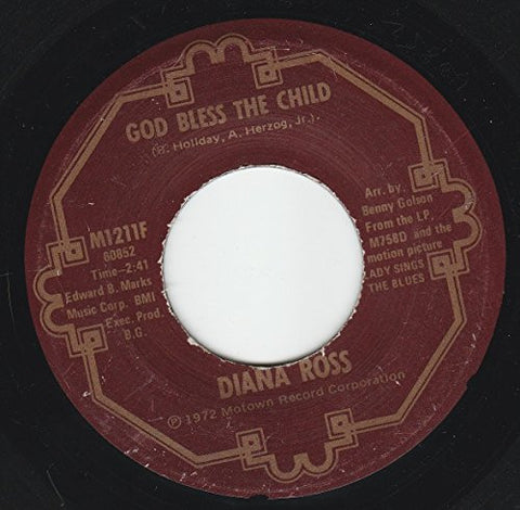 "45vinylrecord God Bless The Child/Good Morning Heartache (7""/45 rpm)"