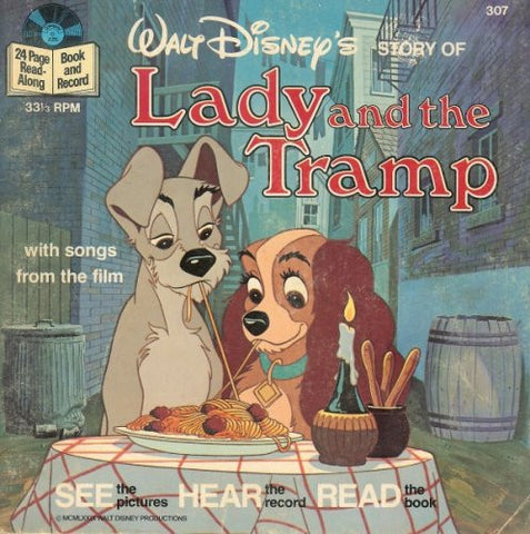 Walt Disney's Story of Lady and the Tramp (33-1/3 RPM Song Record)