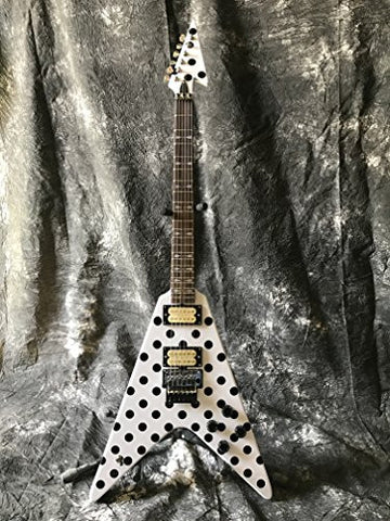 Starshine Randy Rhoads Polka Dot flying v electric guitar standard size floyd rose special bridge