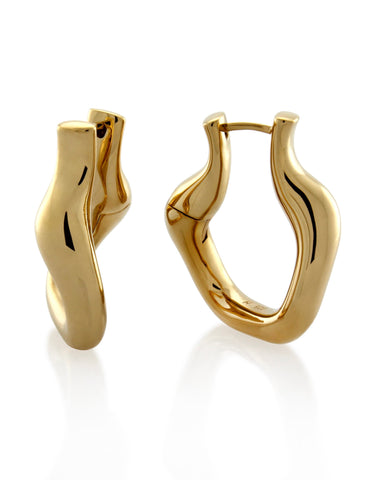 Mineraleir Twist Earring -Gold Plated on Solid Sterling Silver