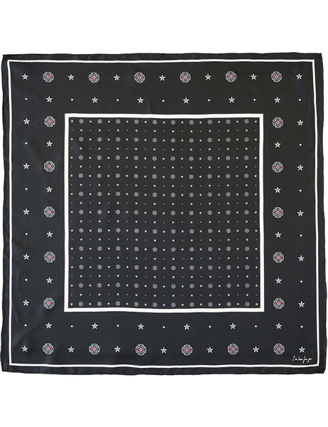 The Square Silk Twill  Scarf  - foulard black