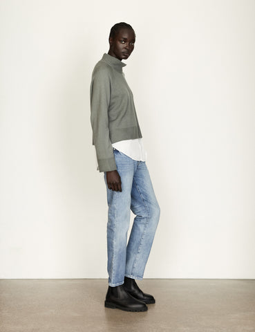 PRE ORDER- Together Cashmere Knit - Cropped - Agave