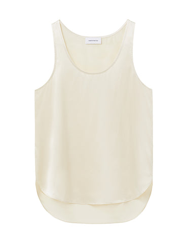 Perfect Silk Tank - Ecru