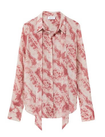 Perfect Silk Shirt - Papaya Tie Dye