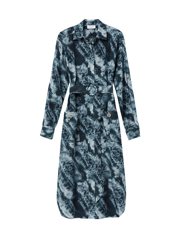 Shirt Dress - Aegean Tie Dye