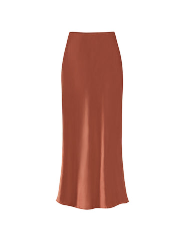 90s Slip Skirt - Terracotta