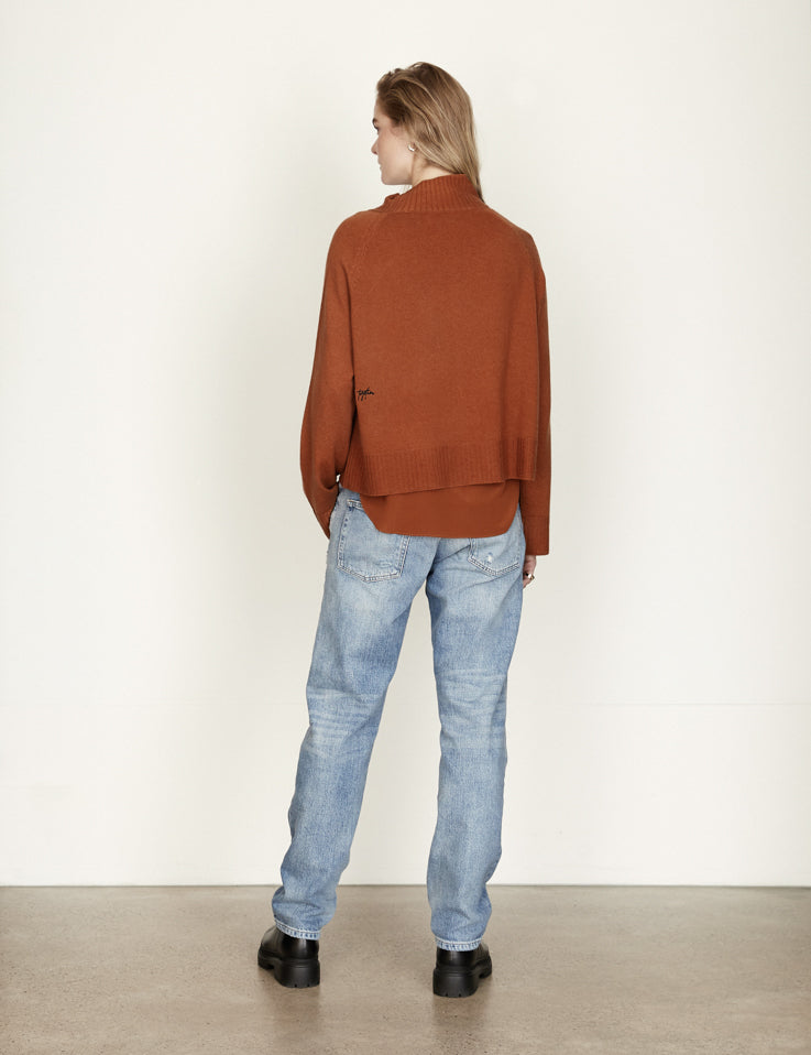 PRE ORDER -Together Cashmere Knit - Cropped - Cognac