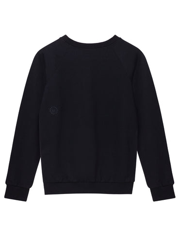 Organic Cotton Raglan Sweatshirt - Black