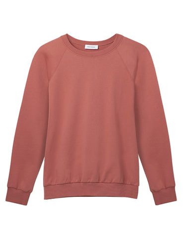 Organic Cotton Raglan Sweatshirt - Terra Cotta